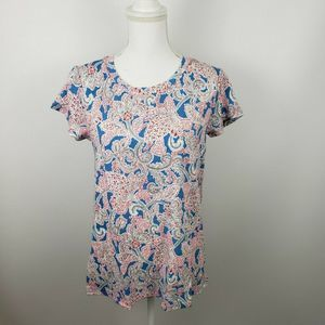 LOFT Med paisley vintage soft tee shirt top NWT
